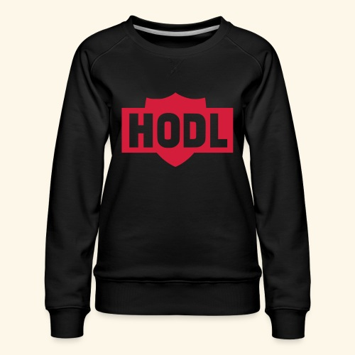 HODL TO THE MOON - Naisten premium-collegepaita