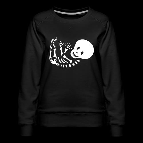 Bauchband Baby Skelett - Frauen Premium Pullover
