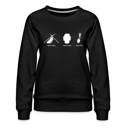 Haus Auto Klo - Frauen Premium Pullover