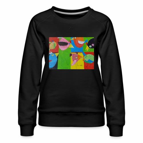 Lovebirds - Liebesvögel - Frauen Premium Pullover