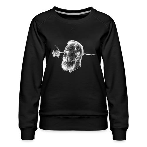 The Rose [WHITE] - Women's Premium Sweatshirt