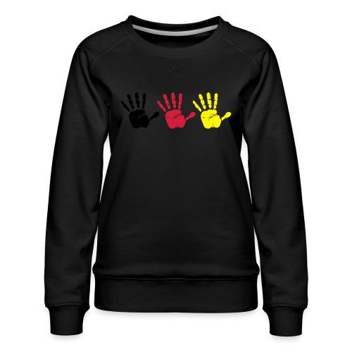 Handabdruck Trio - Frauen Premium Pullover