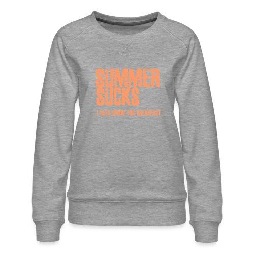 SUMMER SUCKS - Vrouwen premium sweater