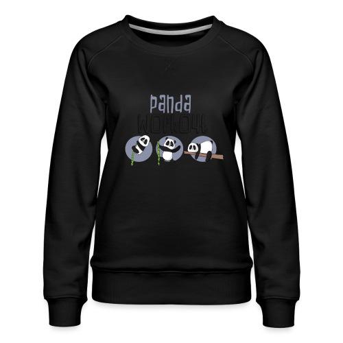Panda Workout Fitness für Genießer und Faulenzer - Frauen Premium Pullover