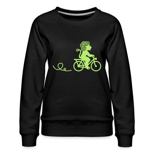 Züri-Leu beim Velofahren ohne Text - Frauen Premium Pullover