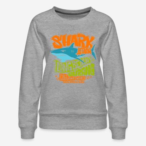 shark surf surfing california - Frauen Premium Pullover