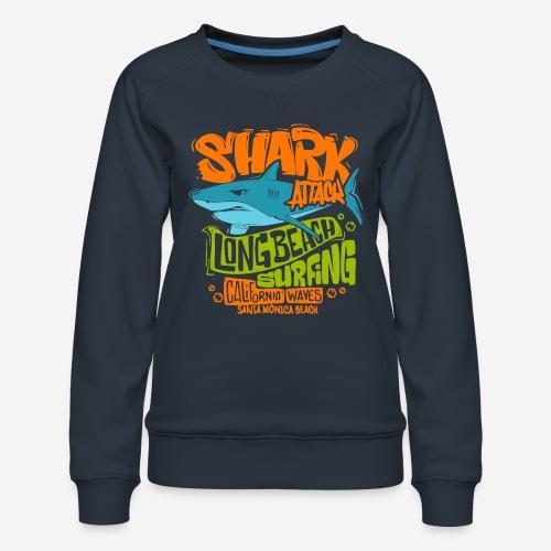 Hai-Surf-Surfen california - Frauen Premium Pullover