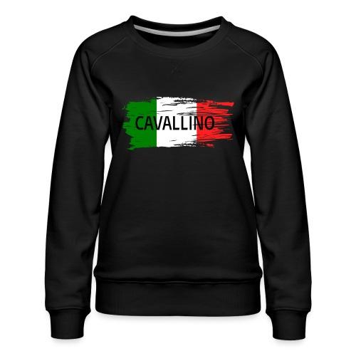 Cavallino auf Flagge - Frauen Premium Pullover