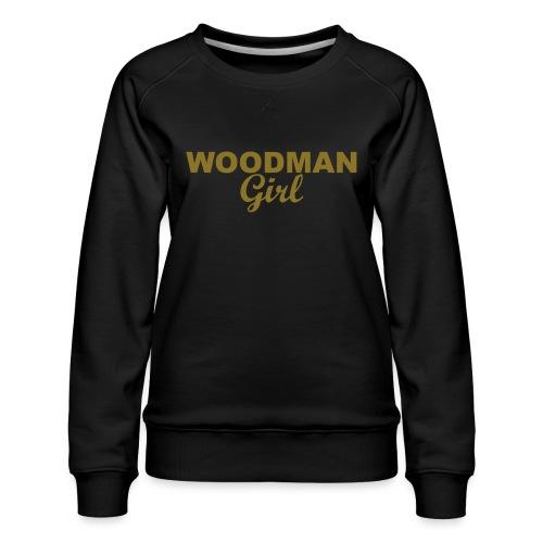 WOODMAN Girl, gold - Frauen Premium Pullover