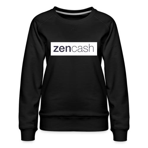ZenCash CMYK_Horiz - Full - Women's Premium Sweatshirt