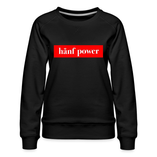 Hanf Power RED - Frauen Premium Pullover