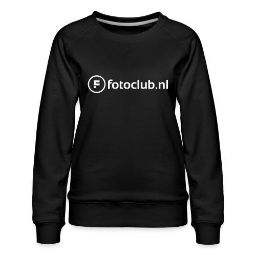Logo Wit Fotoclublnl - Vrouwen premium sweater