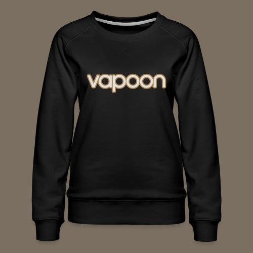 Vapoon Logo simpel 2 Farb - Frauen Premium Pullover