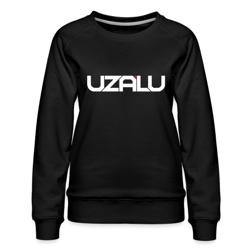 uzalu Text Logo - Women's Premium Sweatshirt