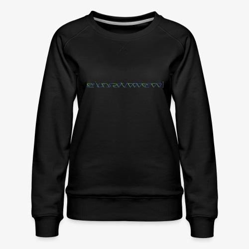 atmen Grün-Blau (m) - Frauen Premium Pullover