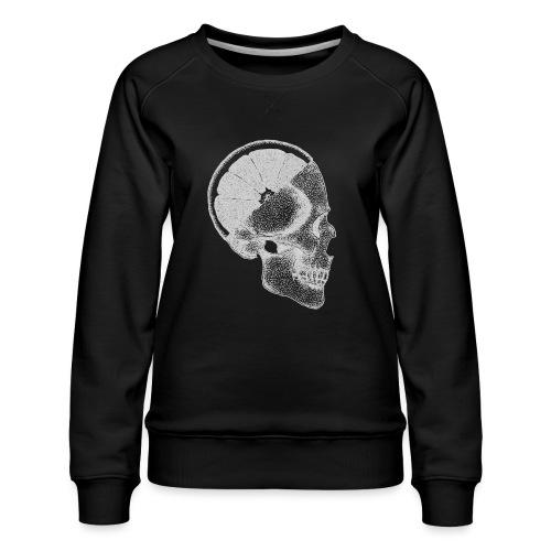The Skull [WHITE] - Women's Premium Sweatshirt