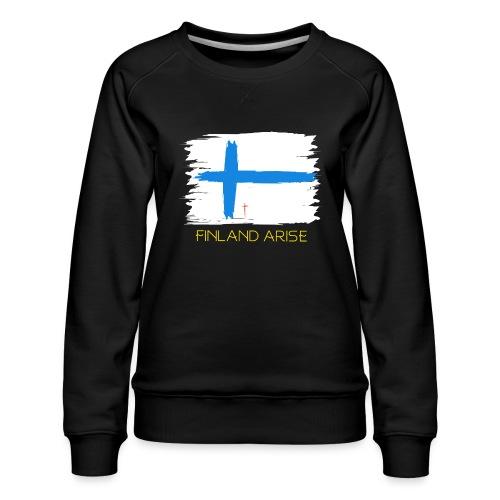 Finland Arise - Naisten premium-collegepaita