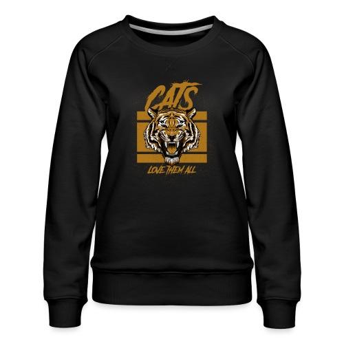 Cats, love them all - Vrouwen premium sweater