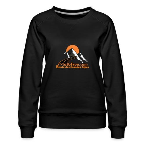 logo motofree orange - Sweat ras-du-cou Premium Femme