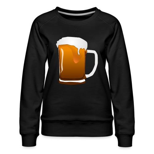 Cartoon Bier Geschenkidee Biermaß - Frauen Premium Pullover