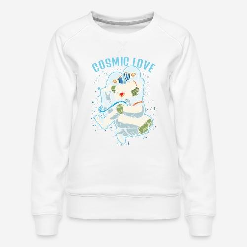 kosmische Liebe Astronautenraum - Frauen Premium Pullover