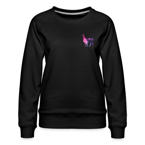 The Llama from Outer Space - Dame premium sweatshirt