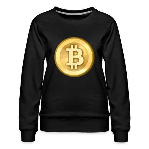 Bitcoin Gold Coin - Women's Premium Sweatshirt
