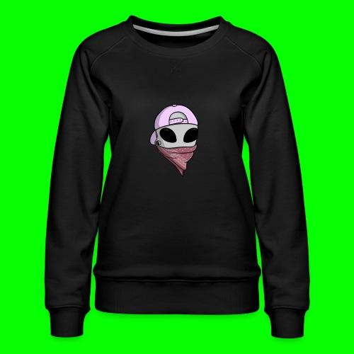 gangsta alien logo - Felpa premium da donna