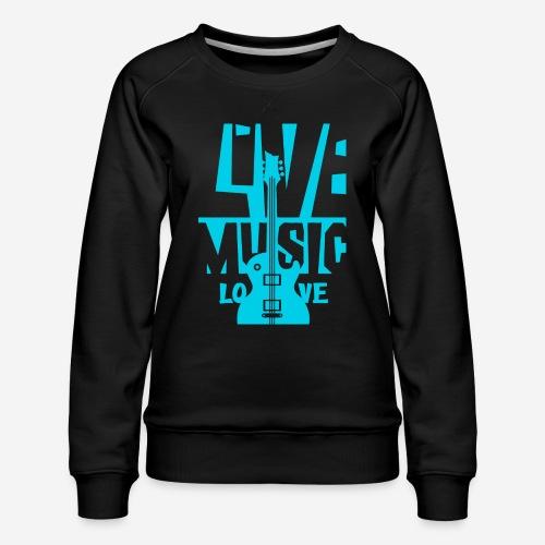 live music guitar - Frauen Premium Pullover