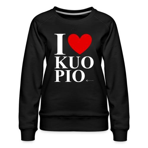 I LOVE KUOPIO ORIGINAL (valkoinen) - Naisten premium-collegepaita