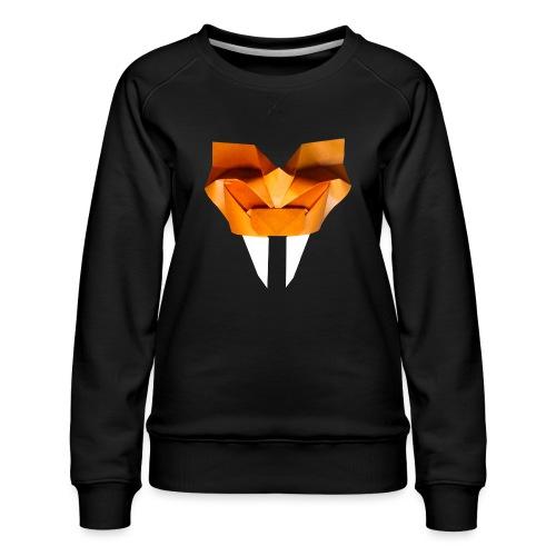 Origami Saber Toothed Tiger Mask - Origami Tiger - Women's Premium Sweatshirt