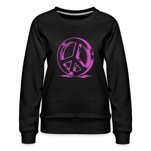 Peace and Love - Sweat ras-du-cou Premium Femme