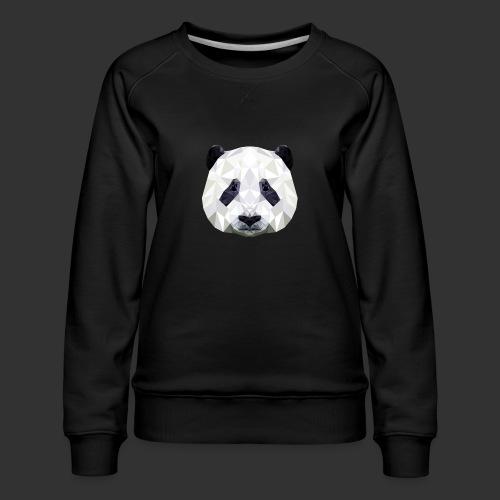 Panda Low Poly - Sweat ras-du-cou Premium Femme