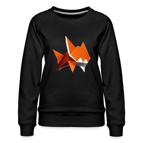 Jumping Cat Origami - Cat - Gato - Katze - Gatto - Women's Premium Sweatshirt