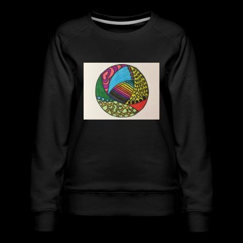 circle corlor - Dame premium sweatshirt