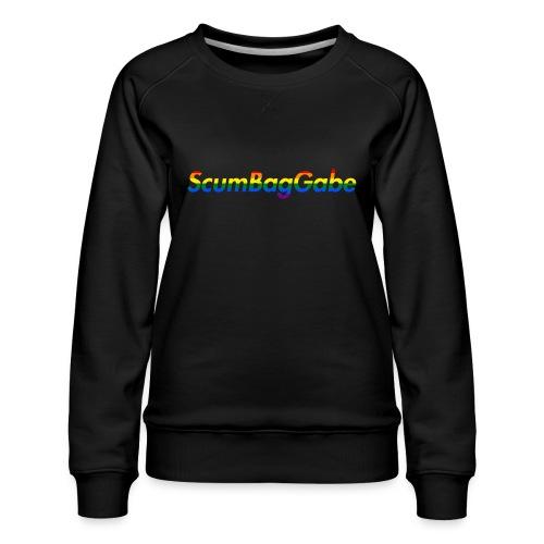 ScumBagGabe Multi Logo XL - Women's Premium Sweatshirt