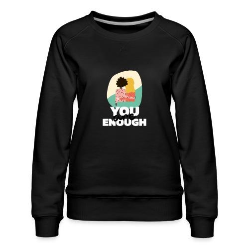 t shirt design template featuring two women suppor - Sudadera premium para mujer