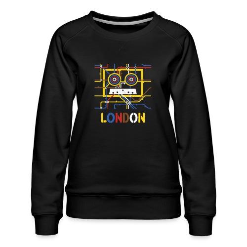 London Tube Map Underground - Frauen Premium Pullover