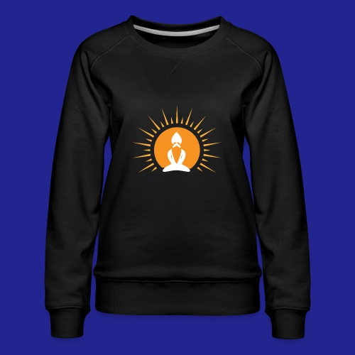 Guramylyfe logo white no text - Women's Premium Sweatshirt
