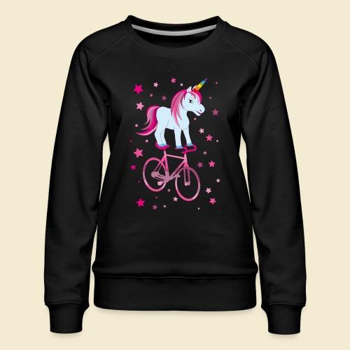 Kunstrad | Einhorn Pink - Frauen Premium Pullover