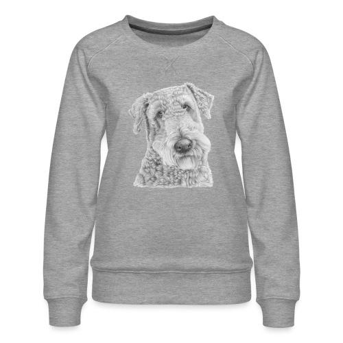 airedale terrier - Dame premium sweatshirt