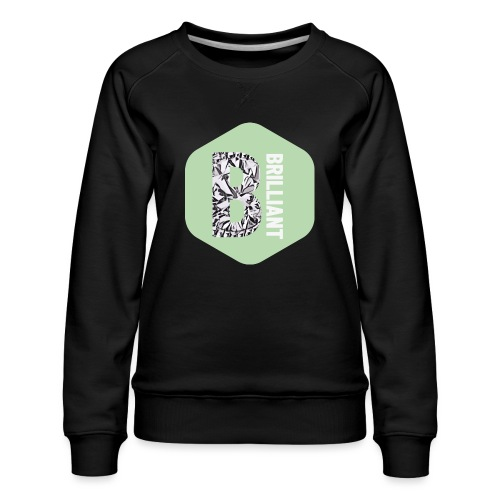 B brilliant green - Vrouwen premium sweater