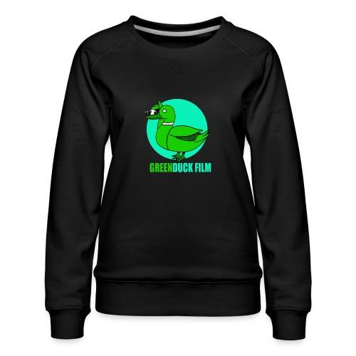 Greenduck Film Turkis blue sun Logo - Dame premium sweatshirt