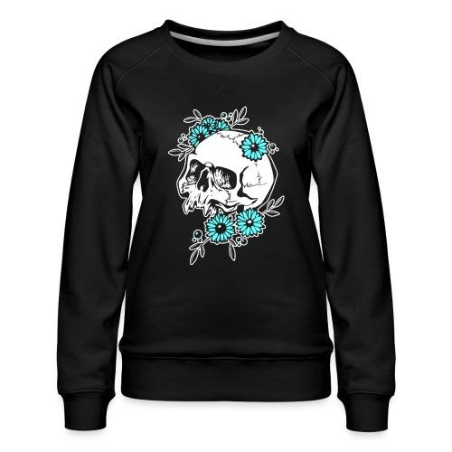 Skull and Flowers - Premiumtröja dam