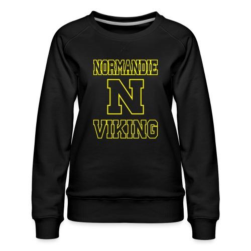 Normandie Viking Def jaune - Sweat ras-du-cou Premium Femme