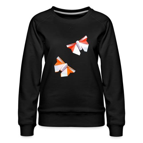 Butterflies Origami - Butterflies - Mariposas - Women's Premium Sweatshirt