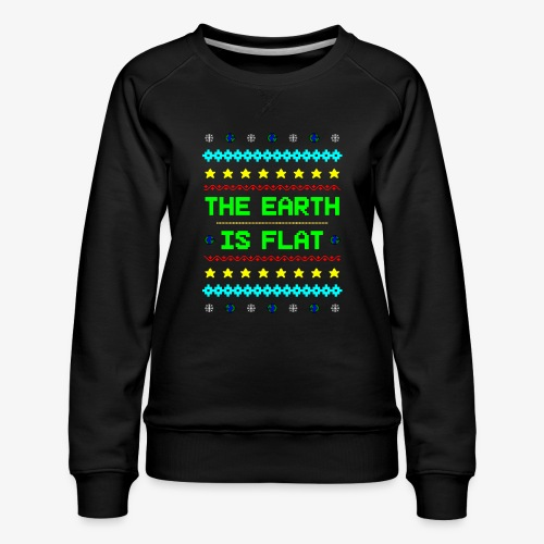 Earth is flat Ugly Christmas - Frauen Premium Pullover