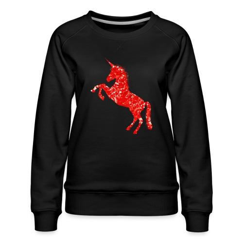unicorn red - Bluza damska Premium