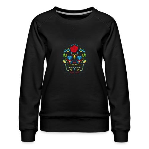 Rose und Diamantschädel - Frauen Premium Pullover