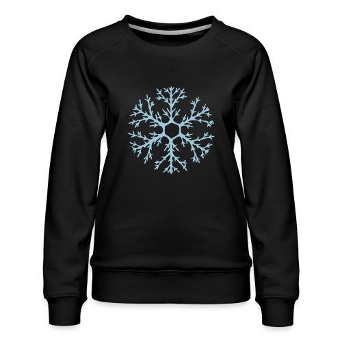 schneeflocke-hellblau-ver - Frauen Premium Pullover